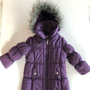 Hawk & Co, girls 3T, 3/4 length purple coat
